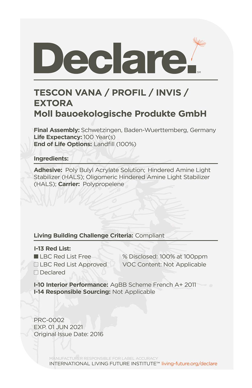 Tescon vana_profil_invis_extora-d