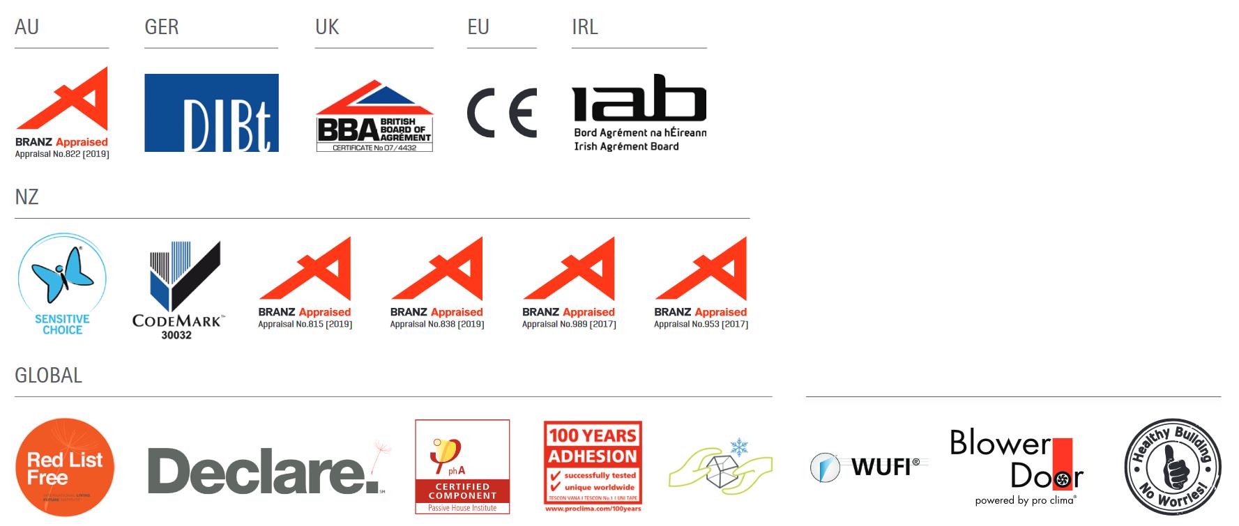 certification logos group AUS