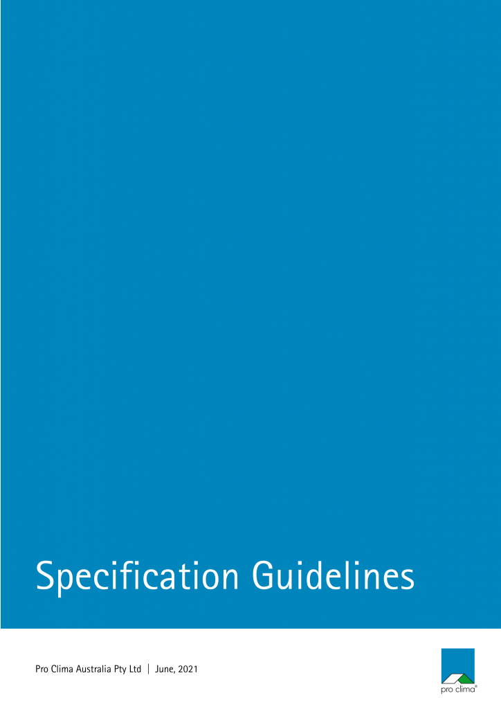pro clima Specification Guidelines_AUS